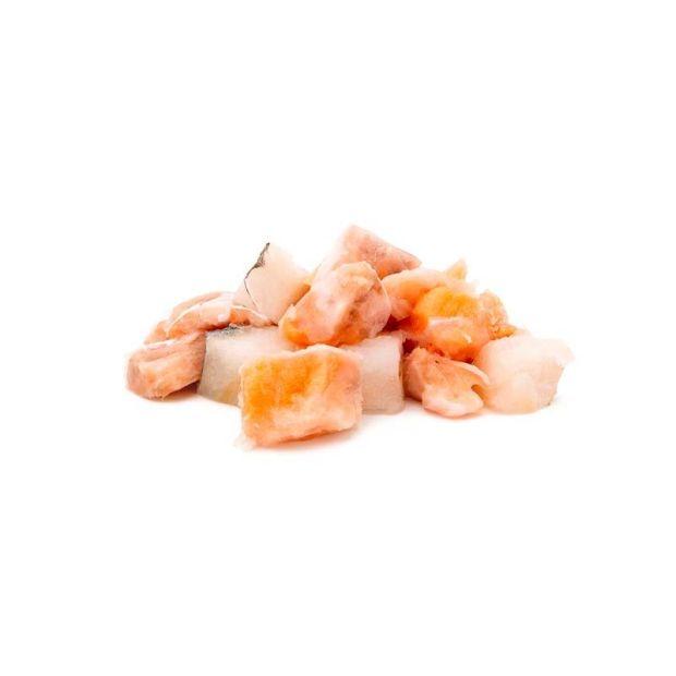 Lachs & weißfisch Würfel, gefroren 500g