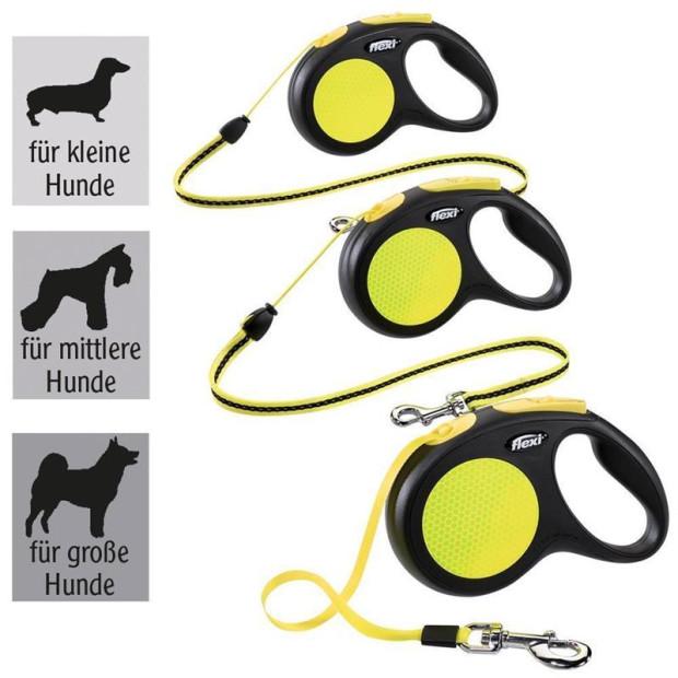 Flexi Neon Reflect für Hunde - Verschiedene Größen S