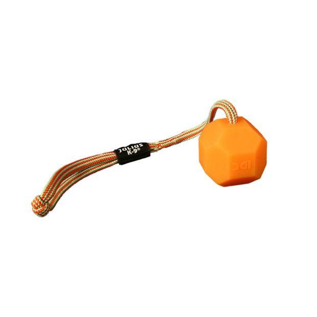 Julius K9® Fluoreszierender IDC®-Ball mit Schnur, Orange, innen hohl Durchm. 60mm