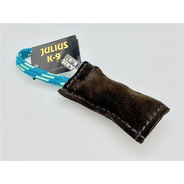 Julius K9® Beißwurst aus Leder 10x 2,5 cm außen genäht