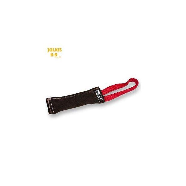 Julius K9® Beißwurst aus Leder 15 x 2,5 cm außen genäht
